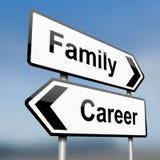 Familie oder Karriere. lizenzfreie abbildung