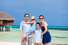 Familie op de zomervakantie Royalty-vrije Stock Fotografie