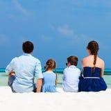 Familie op de zomervakantie Stock Afbeelding