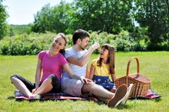Familie op picknick Royalty-vrije Stock Fotografie