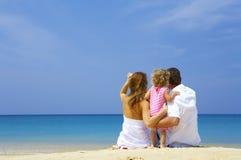 Familie op strand Royalty-vrije Stock Fotografie