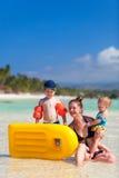 Familie op vakantie Royalty-vrije Stock Afbeeldingen