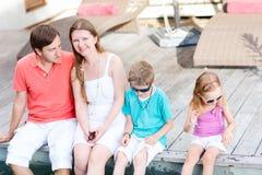 Familie op vakantie Royalty-vrije Stock Foto's