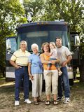 Familie op vakantie. royalty-vrije stock afbeeldingen