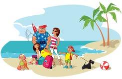 Familie op vakantie Vector Illustratie