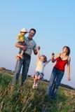 Familie openlucht Stock Foto