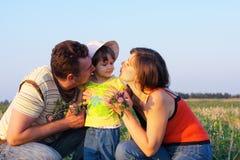 Familie openlucht Royalty-vrije Stock Afbeeldingen