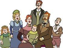 Familie - Oude Familie royalty-vrije illustratie