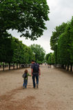 Familie in Parijs Stock Fotografie