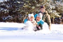 Familie in park Royalty-vrije Stock Foto's