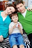 Familie samen Stock Foto
