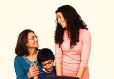 Familie samen. Stock Foto's