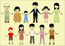Familie samen voor altijd Royalty-vrije Illustratie