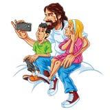 Familie selfie lizenzfreie abbildung