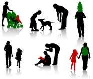 Familie silhouettte stock abbildung