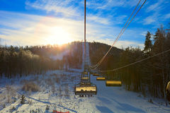 Familie Ski Vacation Lizenzfreies Stockbild