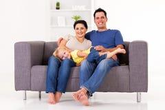 Familie thuis Stock Fotografie
