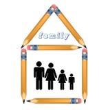 Familie thuis. Stock Foto
