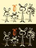 Familie u. Ostern Stockbild