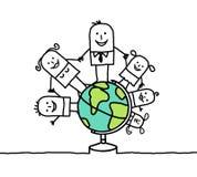 Familie u. Welt Stockfoto