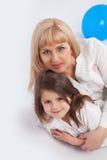 Familie und Bälle Lizenzfreie Stockfotos