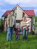Familie und Haus Stockbild