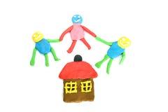 Familie und Haus Lizenzfreies Stockfoto