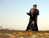 Familie und Herbst Lizenzfreies Stockfoto