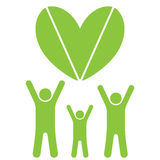 Familie und Herz Eco Stockfoto