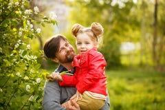 Familie Vader en dochter stock afbeeldingen