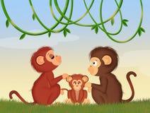 Familie van apen vector illustratie