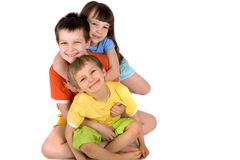 Familie van childern Stock Foto