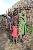 Familie van Dasanech stock afbeelding