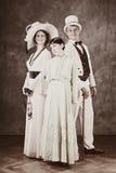 Familie van de oude tijden Royalty-vrije Stock Afbeeldingen