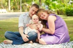Familie van drie royalty-vrije stock foto's