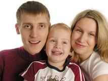 Familie van drie stock foto