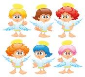 Familie van engelen Royalty-vrije Stock Afbeeldingen
