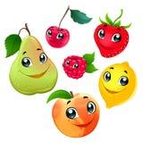 Familie van grappige vruchten Royalty-vrije Stock Afbeelding