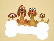 Familie van honden royalty-vrije illustratie