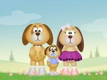 Familie van honden vector illustratie