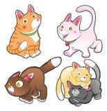 Familie van katten Stock Fotografie