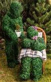 Familie van levende struiken De openluchtfoto van de sprookjestijl Stock Fotografie