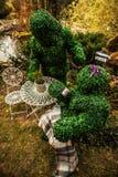 Familie van levende struiken De openluchtfoto van de sprookjestijl Stock Foto