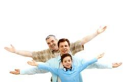 Familie van mensen Stock Foto