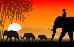 Familie van olifanten royalty-vrije illustratie