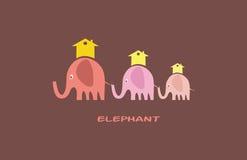 Familie van olifanten Stock Afbeeldingen