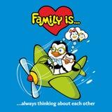 Familie van pinguïnen met één hart en vriendschap worden verenigd die royalty-vrije illustratie