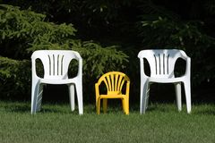 Familie van stoelen Stock Fotografie