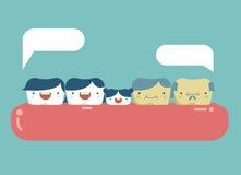 Familie van tanden, gelukkige tand Royalty-vrije Stock Foto