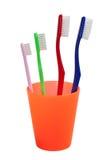 Familie van tandenborstel Stock Foto's